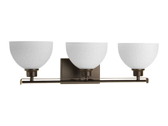 Progress Lighting P2089-20 Three-light Bath Fixture with Sculpted Glass