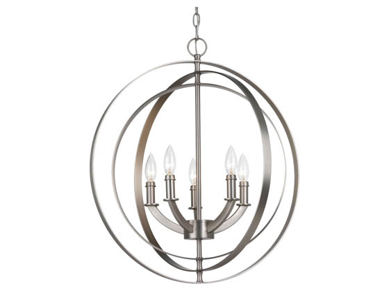 Progress Lighting P3841-126 Five-light Sphere Candelabra Pendant