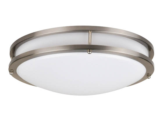 "NaturaLED 7533 LED16FMM-196L830-NI Dimmable 26W 16"" 3000K Flush Mount LED Ceiling Fixture"