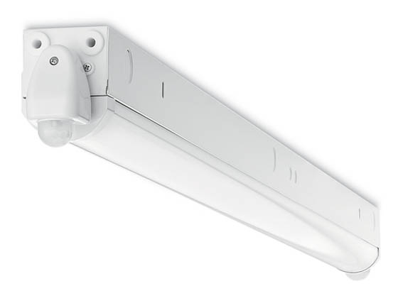 Verbatim Americas LLC 99305 BAT-4FT-W26-C50-MS-NON Verbatim 26 Watt, 4' Non-Dimmable LED Strip Fixture with Dual Motion Sensors