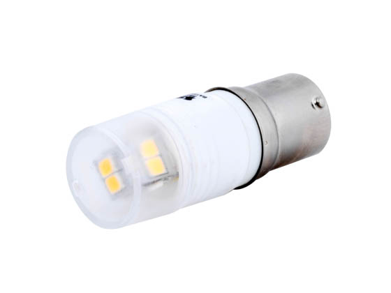 Satco Products, Inc. S9222 LED 2.3W BA15S 3000K Satco Non-Dimmable 2.3W 12V T3 LED Bulb, BA15s Base