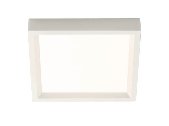 "Philips Lighting S4S830K7 Philips SlimSurface Dimmable 9.5W 3000K 4"" Square LED Downlight"