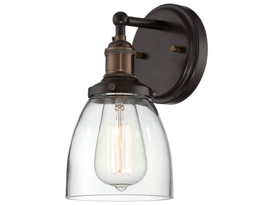 Nuvo Lighting 60-5514 Nuvo Vintage - 1 Light Sconce w/Clear Glass - Vintage Lamp Included