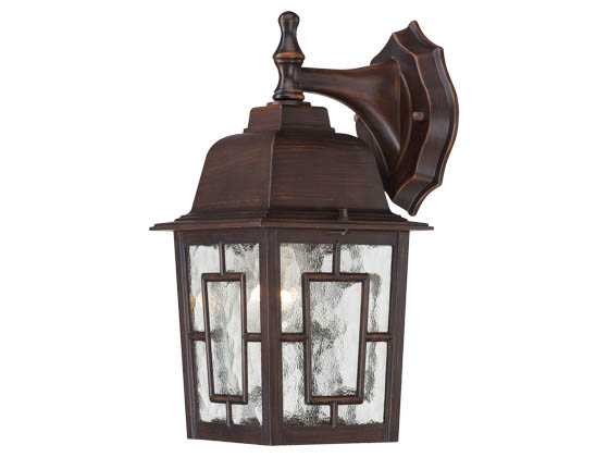 Nuvo Lighting 60-4922 Nuvo Outdoor - 1 Light Rustic Bronze Wall Sconce w/Clear Glass