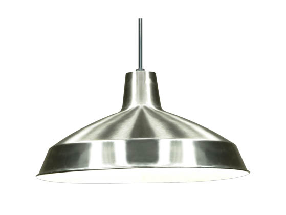 "Nuvo Lighting 76-661 Nuvo 1-Light 16"" Brushed Nickel Pendant Light Fixture"