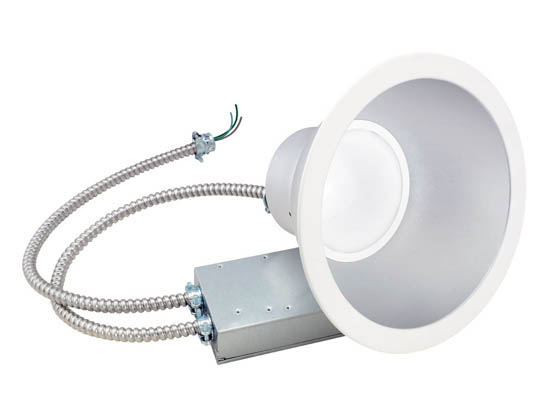 "Green Creative 97696 32CDL8G4DIM/830/277V Dimmable 32W 3000K 8"" LED Recessed Downlight"