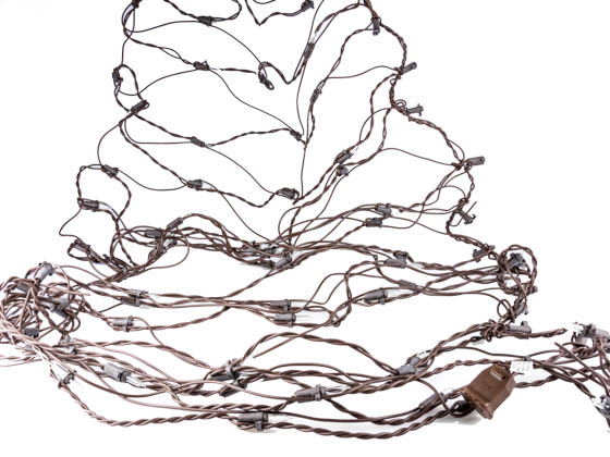 Sival, Inc. NL28150BRCL Sival Incandescent Net Light With 150 Mini Light Bulbs - 2' X 8' Brown Wire