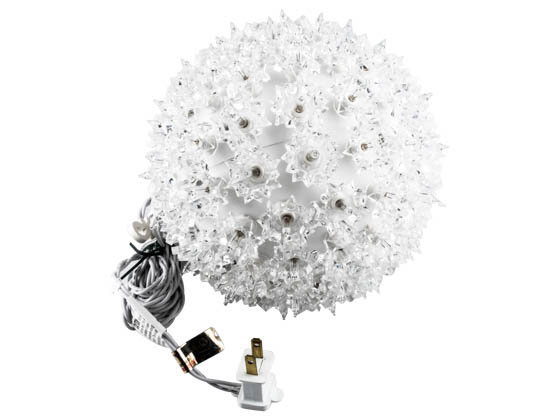 "Sival, Inc. STRWWH75 Sival Starlight Sphere Ornament - 7.5"" 100 Clear lights"
