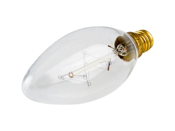 "Sival, Inc. ATQB11E1210 Sivals 10 Watt, E12 Base Clear ""Nostalgic"" Decorative Bulb"