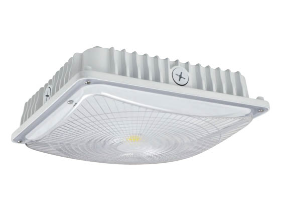 NaturaLED 7561 LED-FXSCM45/50K/WH-SEN 45 Watt 5000K Slim LED Canopy Fixture with Motion Sensor