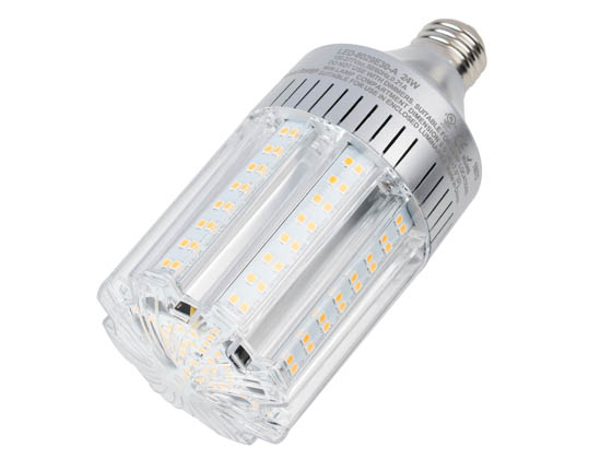Light Efficient Design LED-8029E30-A 100 Watt Equivalent, 24 Watt 3000K LED Corn Bulb, Ballast Bypass
