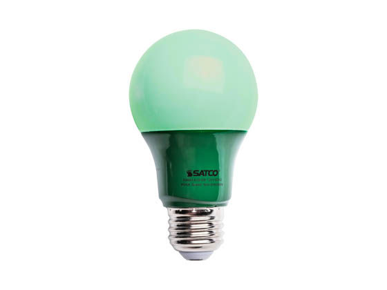 Satco Non-Dimmable 2W Green A19 LED Bulb, Enclosed Rated | 2A19/LED ...