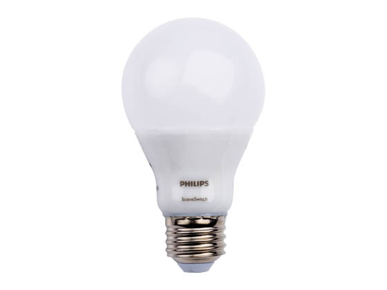 Philips Lighting 464957 9.5A19/LED/827-50-22/ND SSCC 120V Philips Non-Dimmable 9.5/8/3 Watt 2700K/5000K/2200K A-19 SceneSwitch LED Bulb