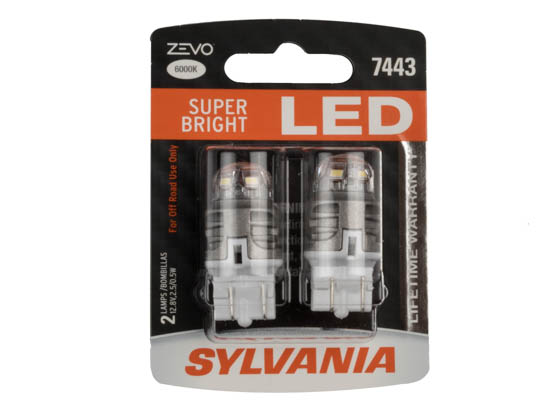 Sylvania 32000 ZEVO2 G2 7443LED.BP2 EN-SP 2/SKU 72/CS 7443 ZEVO LED Automotive Bulb
