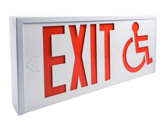 Value Brand 28797 ISA-EXIT Steel Exit Sign Featuring Wheelchair Accessibility Symbol
