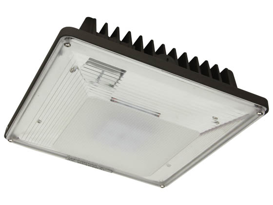 MaxLite 102339 CPL58AUC50B 250 Watt MH Equivalent, 58 Watt LED Low-Profile Canopy Fixture