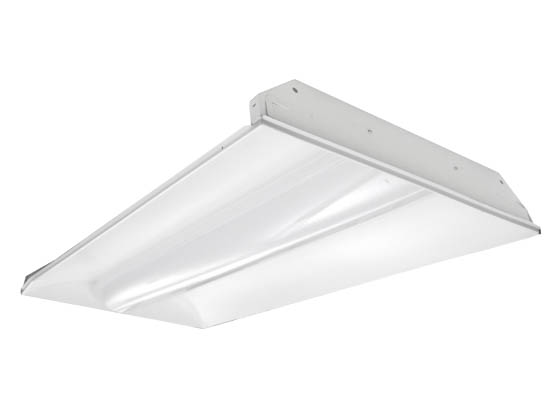 TCP TCPTRV4UNIZD7035K 72 Watt, Dimmable 2x4 ft Designer Series LED Recessed Troffer Fixture, 3500K