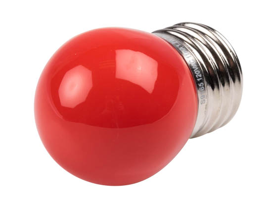 Satco Products, Inc. S9165 1.2W S11/RED/LED/120V/CD Satco 1.2 Watt Red S11 LED Bulb