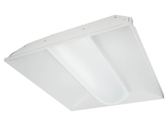 TCP TCPTRV2UNIZD2250K 22.5 Watt, 2x2 ft Dimmable Designer Series LED Recessed Troffer Fixture, 5000K