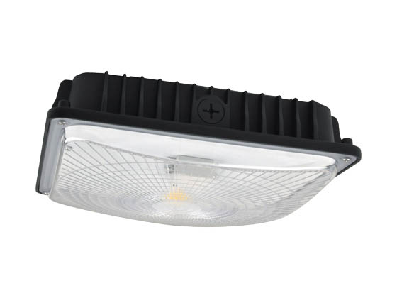 NaturaLED 7492 LED-FXSCM42/50K/BK-SEN 42 Watt 5000K Slim Canopy LED Fixture With Daylight and Motion Sensor