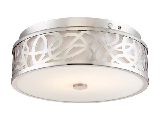 Nuvo Lighting 62-977 20W/LED/3000K/90CRI120-277V/BN Nuvo LED Flush Mount Emergency Battery Back-up Ready
