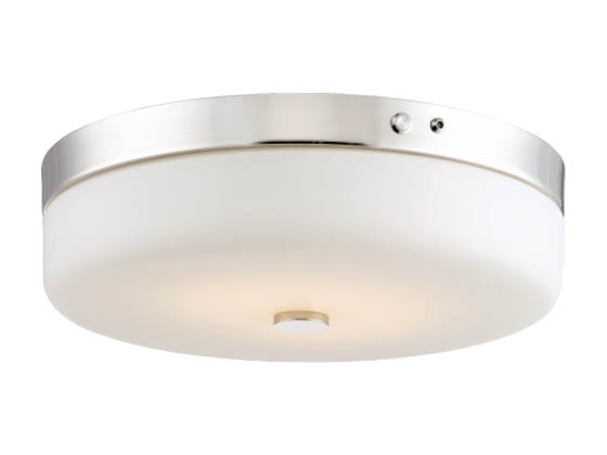 Nuvo Lighting 62-981 20W/LED/3000K/90CRI120-277V/PN Nuvo LED Flush Mount Emergency Battery Back-up Ready