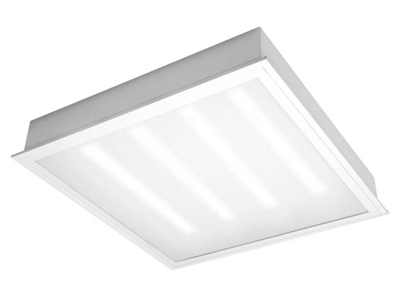 TCP TCPETRF2UNIZD2035K 25 Watt, 2x2 ft Dimmable Recessed LED Troffer Fixture, 3500K