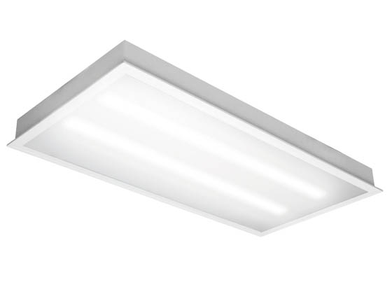 tcp 80 watt 2x4 ft dimmable recessed led troffer fixture 5000k