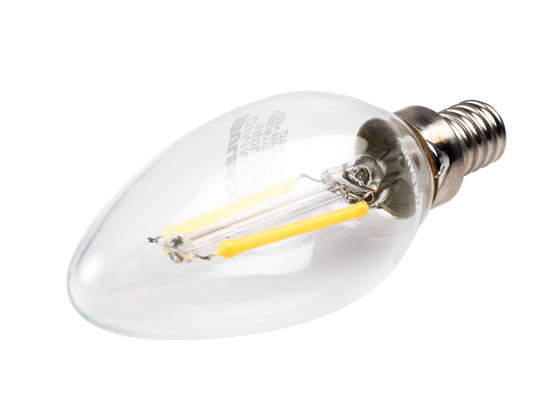 Bulbrite 776655 LED2B11/27K/FIL/E12/2 Dimmable 2.5W 2700K Decorative Filament LED Bulb, Enclosed Fixture Rated