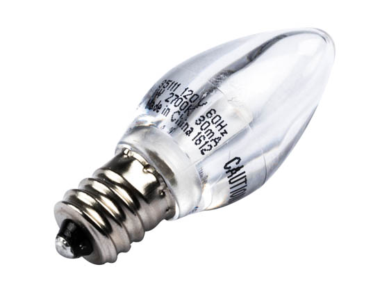 C7 Led Bulb >> Westinghouse Non Dimmable Clear 1w C7 Night Light Led Bulb 1c7 Led