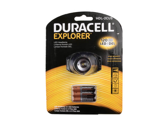 Duracell HDL 2CUS Explorer Series LED Headlamp, 120 Lumens