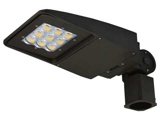 NaturaLED 7616-P10101 LED-FXSAL29/40K/DB/3S-P10101 Dimmable 100-150 Watt Equivalent, 29 Watt 4000K Slim LED Area Light Fixture With Slip Fitter Bracket