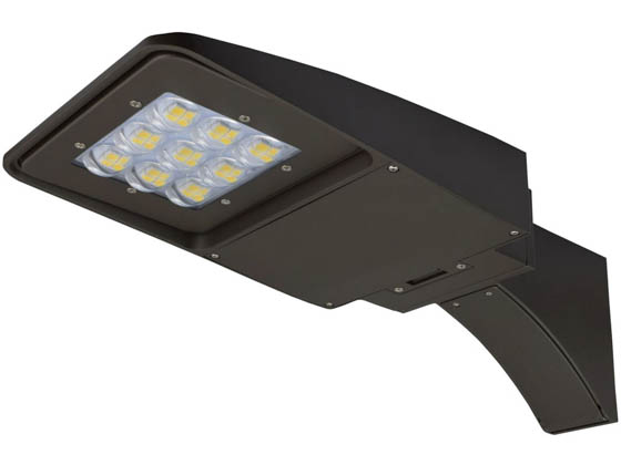 "NaturaLED 7625-P10105-P10036 LED-FXSAL75/50K/DB/3S/EA Dimmable 250-400 Watt Equivalent, 75 Watt 5000K Slim LED Area Light Fixture With 6"" Extended Arm Bracket & Photocell"