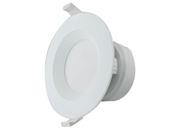 "MaxLite 1408891 RF408ICAT27WJ Maxlite Dimmable 4"" 7W 2700K Round LED Downlight, No Recessed Can or J-Box Needed, 90 CRI, JA8 Compliant"