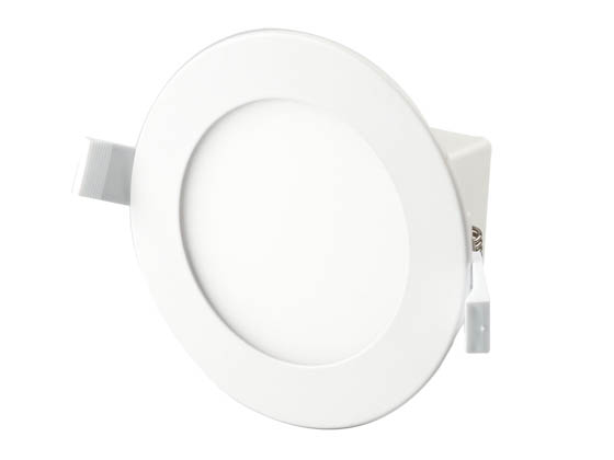 "Bulbrite 773107 LED8JBOXDL/4/840/WHRD/D Dimmable 4"" 8.5W 4000K LED Downlight, No Recessed Can or J-Box Needed"
