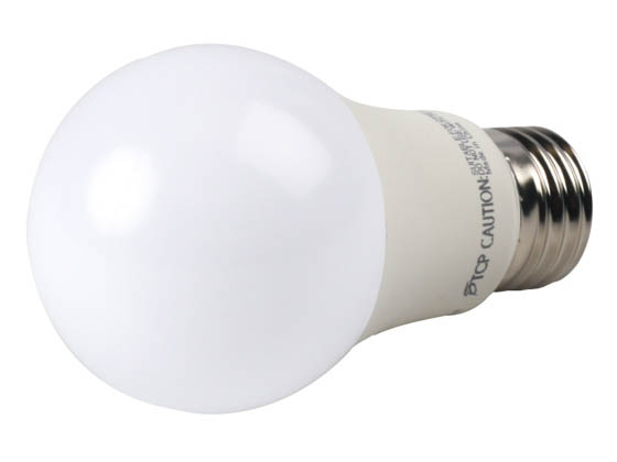 TCP L6A19N1530K Non-Dimmable 6 Watt 3000K A-19 LED Bulb, Enclosed Rated