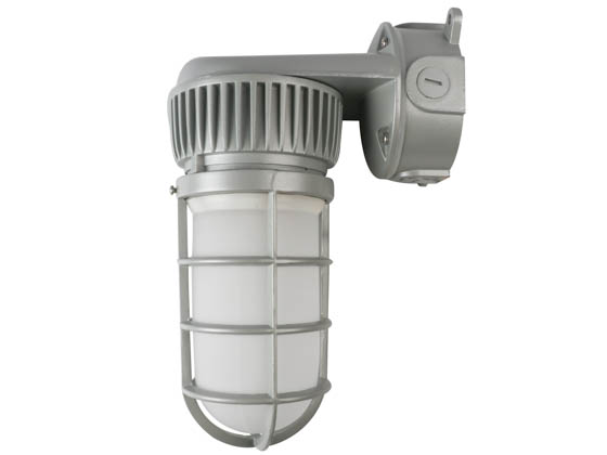 NaturaLED 7604 LED-FXVTJ20/830/MV-WM 20W 3000K Wall Mount LED Vapor Tight Jelly Jar Fixture
