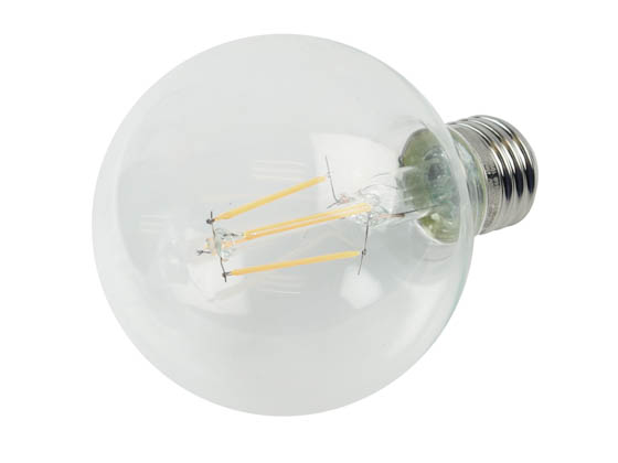 Satco Products, Inc. S29563 4.5/G25/LED/27K/120V Satco Dimmable 4.5W 2700K G25 Filament LED Bulb, Rated for Enclosed Fixtures