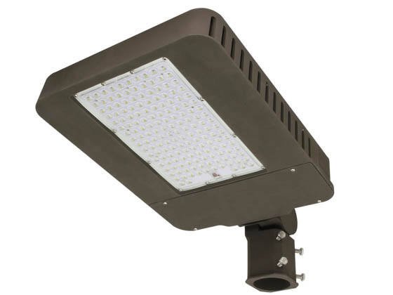 "MaxLite 1409322 AR-MAL140UT5-50BRK Maxlite Dimmable 400 Watt Equivalent, 140 Watt 5000K Slim LED Area Light Fixture With 2 3/8"" Slip Fitter Mount, Type V"