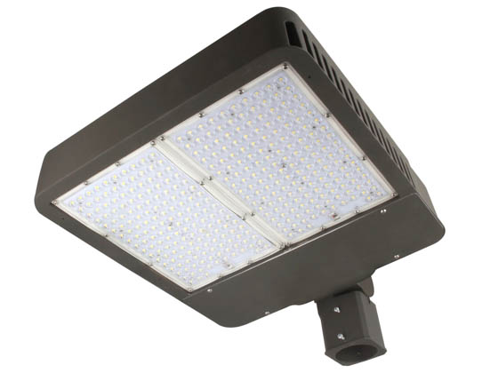 "MaxLite 1409328 AR-MAL280UT3-50BRK Maxlite Dimmable 750 Watt Equivalent, 280 Watt 5000K Slim LED Area Light Fixture With 2 3/8"" Slip Fitter Mount, Type III"