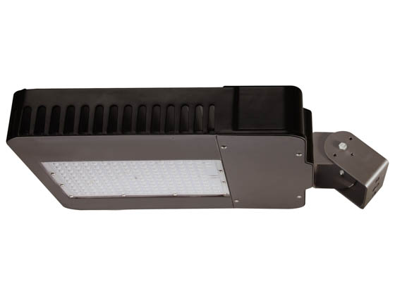 MaxLite 100272 AR-MAL100UT5-50BRT Maxlite Dimmable 250 Watt Equivalent, 100 Watt 5000K Slim LED Area Light Fixture With Trunnion Mount, Type V