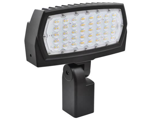 Topaz Lighting 79602 F-FL/70/50K/SF/BZ-67 Topaz 70 Watt LED Flood Light Fixture, 5000K With Slipfitter Mount