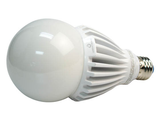 Green Creative 97973 25HID/840/277V/E26 Non-Dimmable 25W 120-277V 4000K A-23 LED Bulb, Enclosed Rated, E26 Base