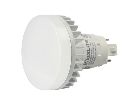 MaxLite 1408689 12PLG24QVLED40 Maxlite Non-Dimmable 12W 4 Pin Vertical 4000K G24q LED Bulb, Ballast Compatible