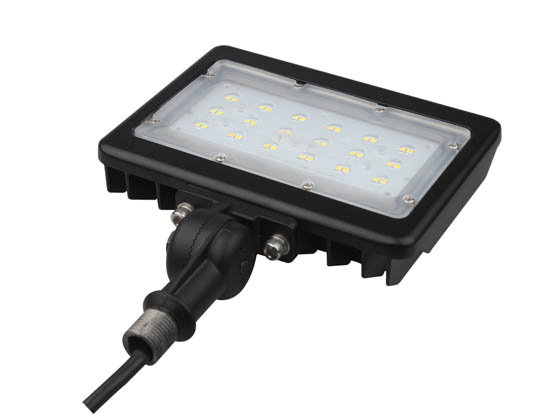 "PacLights FFLA30-50 30 Watt LED Flood Light Fixture, 5000K With 1/2"" Knuckle Mount"