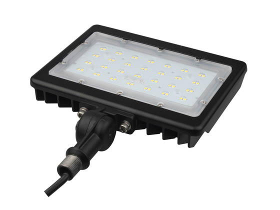 "PacLights FFLA50-50 50 Watt LED Flood Light Fixture, 5000K With 1/2"" Knuckle Mount"