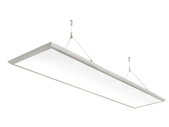MaxLite 14098822 MLFP14DI3640ICL Maxlite Dimmable 40W 1'x4' 4000K Indirect/Direct Edge Lit Pendant Linear Fixture