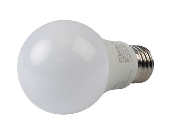 MaxLite 14099393 E6A19DLED40/G6 Maxlite Dimmable 6W 4000K A19 LED Bulb, Enclosed Rated