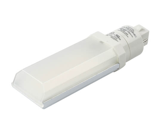 Keystone KT-LED82P-H-835-D Non-Dimmable 8W 2 Pin Horizontal 3500K G24d/G24q LED Bulb, Ballast Bypass
