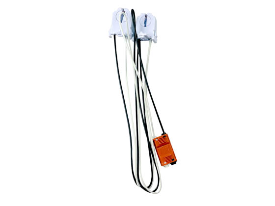 Keystone KT-SOCKET-T8-U-S-2-W T8 Retrofit 2-Lamp Wiring Harness for LED Tubes